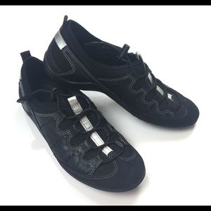 ECCO Womens 5/5.5 Toggle Lace Black Comfort Shoes